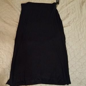 a.n.a Black Knit Maxi Skirt